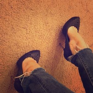 Sexy black rhinestone aldo heels